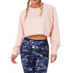 Cropped col rond rose