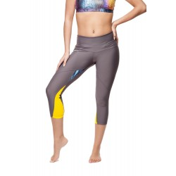 Legging Gris Satin/Cobra
