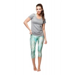 Legging Animal Aqua