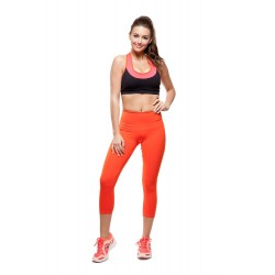 Legging taille haute orange